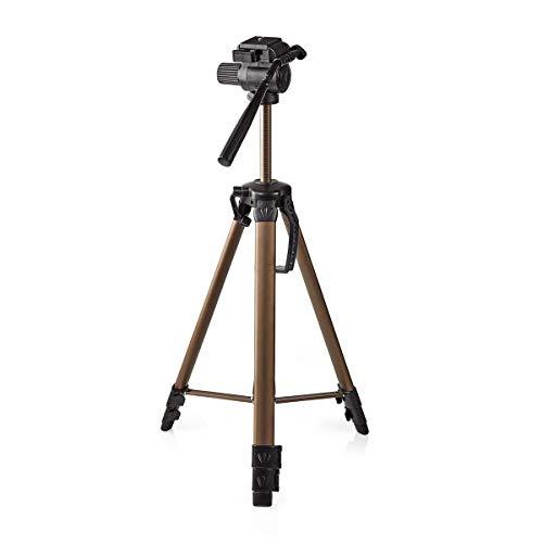 Nedis - Statief - Tripod - Foto- en videocamera's - Pan & Tilt - Max. 3 kg - 127 cm - 3-Weg pankop - Snelkoppelingsplaat - In hoogte verstelbaar - Lichtgewicht - Met handige draagtas