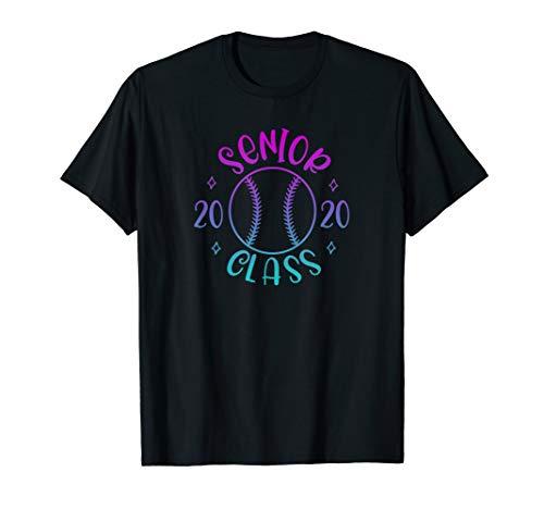Senior Graduating Class of 2020 Girls Softball Pink & Blue T-Shirt