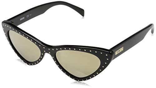Moschino MOS006/S Occhiali da Sole, Nero (Schwarz), 52 Donna