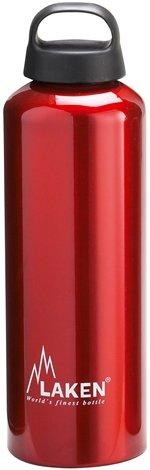 Laken Botella de Aluminio 1L Roja Classic (boca ancha)