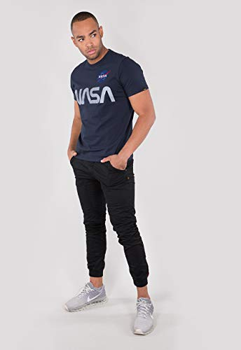 Alpha Industries NASA Reflective T-Shirt Dunkelblau XL