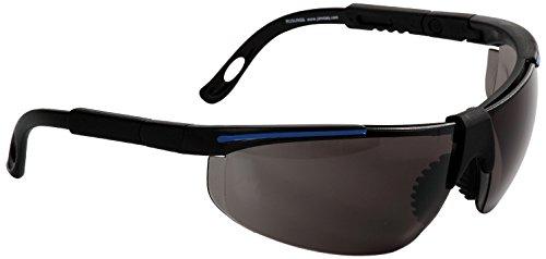 Eagle RUSUNSG Gafa de protección laboral con lentes intercambiables de Policarbonato oscura con patillas ajustable, puente bimaterial y funda de microfibra, Único