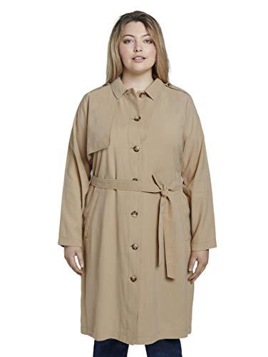 TOM TAILOR MY TRUE ME Damen Jacken & Jackets Fließender Trenchcoat Cream Toffee,44