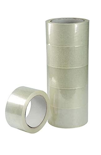 Nastro Adesivo Trasparente Silenzioso da imballaggio mm 50 x 66 metri Confezione da 6 Pezzi