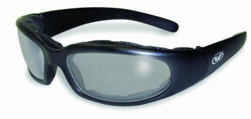 Global Vision Herren Sonnenbrille transparent Schwarzer Rahmen/klares Rauchglas Einheitsgröße