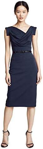 Black Halo Women s Jackie O Belted Dress Eclipse 4 product image