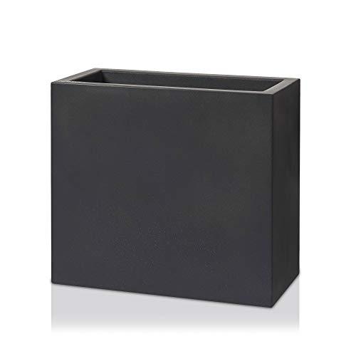 DECORAS Raumteiler Divisor 70 Kunststoff - Pflanztrog, Blumentrog - Maße: 79x39x70 cm, Farbe: anthrazit matt