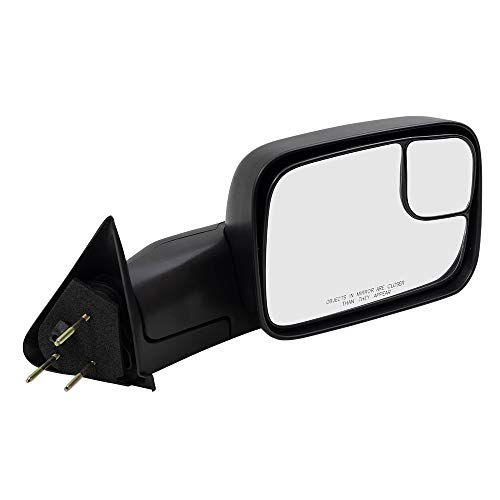 Brock Replacement Passenger Manual Side Tow Mirror 7x10 Flip-Up with Mounting Bracket Compatible with 1994-2001 1500 1994-2002 2500 3500 Pickup Truck 55156334AD
