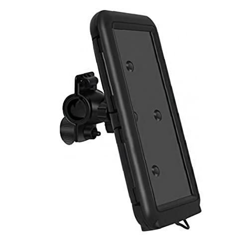 Soporte de montaje a prueba de agua Pantalla táctil Pantalla táctil Bolsa de soporte impermeable para 6.8 pulgadas Smartphone negro