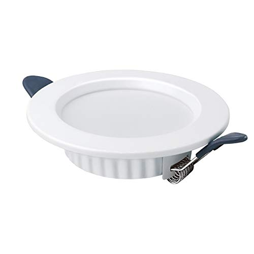 GSYNXYYA Aplique empotrable, 2.5/3.5/4/6 Pulgadas Metal Lámpara de Pared incrustada, LED Spotlight Empotrado Empotrado de Downlight Ultra-Fino, Ángulo 120 °,6in~15w,6000K
