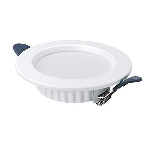 GSYNXYYA Aplique empotrable, Foco de Techo empotrable de la luz Delgado Ultra-Delgado LED, lámpara de Pared incrustada de Aluminio de 2.5/3.5/4/6 Pulgadas, ángulo de 120 ° (Blanco),3.5in~9w,4000K