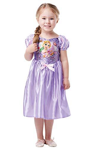 Rubie's 641354TODD Officiële Disney Princess Pailletten Rapunzel Klassiek Kostuum, Peuter, Multi-Kleur (Leeftijd 2-3 jaar, Hoogte 98 cm)