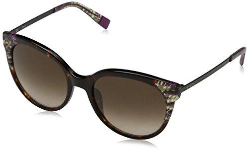 FURLA Eyewear Donna N/A Occhiali da sole, Multicolore (Shiny Brown Havana/Yellow), 55