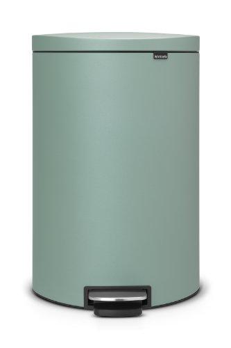 FlatBack+ Treteimer 40 L Silent mit Kunststoffeinsatz / Mineral Mint