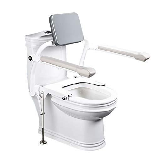 Cuvette De Toilette Foldaway Surround MatelasséE Toilettes Barres De Salle De Bains Toilettes Cadre Handrail SéCurité pour L'Aide Aux Personnes âGéEs HandicapéEs Et Les Personnes HandicapéEs