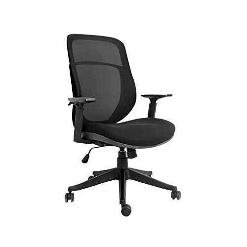 Ergonomic Swivel Mesh Task Office Chair with Adjustable Lumbar Support,Fabric Seat Upholster