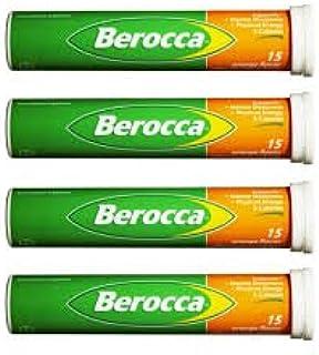 ビタミンサプリ Berocca (VitaminC,B群,葉酸,カルシウム,亜鉛,マグネシウム)15錠 X 4本