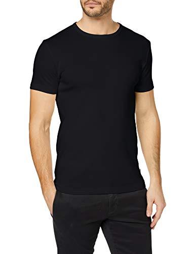 ESPRIT Herren Rundhals Basic T-Shirt, 001/BLACK, XXL