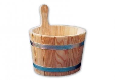 Blumenberg - Secchio essenze per sauna, in larice, con inserto in plastica, da 5 litri.