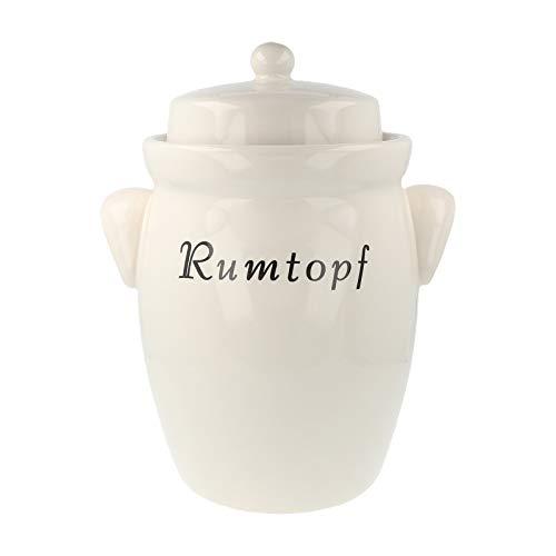 PureNature Rumtopf aus Keramik 5 Liter Creme ohne Dekor