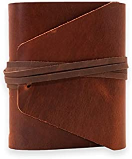 LEATHER JOURNAL Writing or Drawing Notebook, Handmade, Leather Bound For Men & Women, Unlined Blank Pages, 6.25 x 7 Inches, Great Gift for Artists Or Writers, Often Used As A Travel Sketchbook, Diary