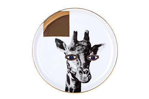 Porland Wild Life - Plato llano (porcelana, 20 cm, 1 unidad), diseño de jirafa