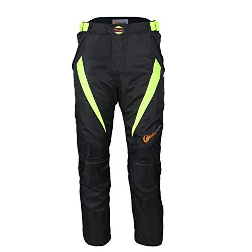 QINYA Pantalones De Moto Para Hombre, Vaqueros Para Hombre Kevlar, Pantalones De Moto De Protección, Pantalones De Moto Impermeables, Tela Oxford 600D (pants,L)