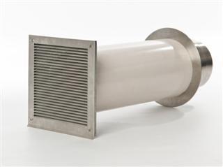 Verbrennungsluftsystem mit Doppelklappe 80mm (VLS) Zuluft-Set für Kamin