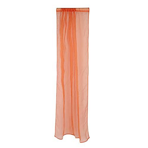 QiruIXinXi Cortinas opacas, cortina de ventana transparente, sin distorsión, bloquea la luz solar y los rayos UV, reduce el ruido exterior para crear un ambiente de sueño tranquilo (naranja)