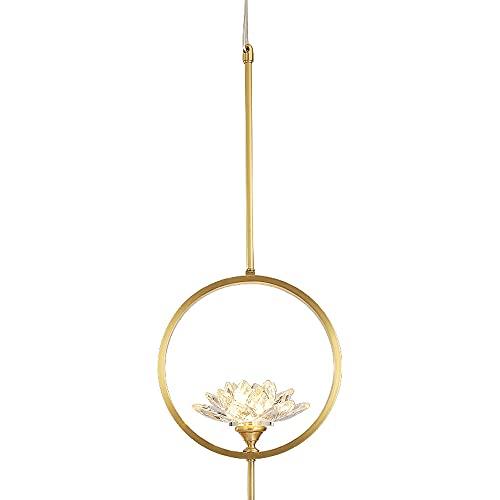NAMFSR G9 fuente de luz colgante lámpara nueva iluminación china simple cobre droplight creativo moderno Lotus luz luminaria comedor estudio iluminación colgante techo lámpara colgante