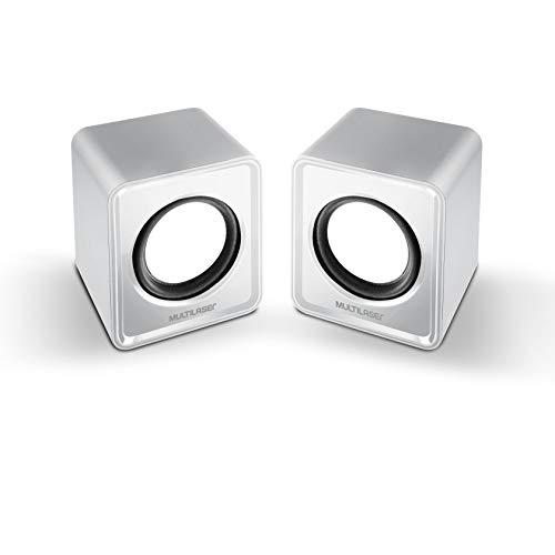 Caixa De Som Multilaser 2.0 Mini 3W Rms P2/USB Branco - SP199