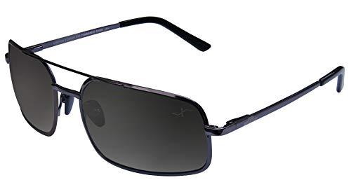 Xezo - Camiseta para hombre, Hombre, Gafas de sol polarizadas para hombre, Air Commando 2400 B, Negro cromado., 20g/0.7 oz