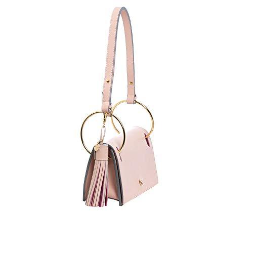 Petusco Sofisticado y estiloso Bolso color rosa palo. Bandolera. Confeccionado con piel y accesorios metálicos de primera calidad. Diseño exclusivo. Fabricación artesanal. (Rosa palo)