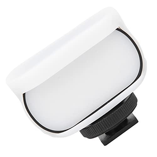 minifinker Luz de Relleno de cámara LED portátil, luz de Relleno LED Recargable Ajuste de Orificio de Tornillo de 1/4 de Pulgada para trípodes para Viajar