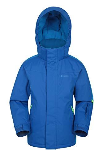 Mountain Warehouse Raptor Schneejacke für Kinder - Schneedichte & Warme Winterjacke, Skijacke, Kindermantel mit Fleecefutter & integrierter Schneerock zweifarbiges Blau 9-10 Jahre