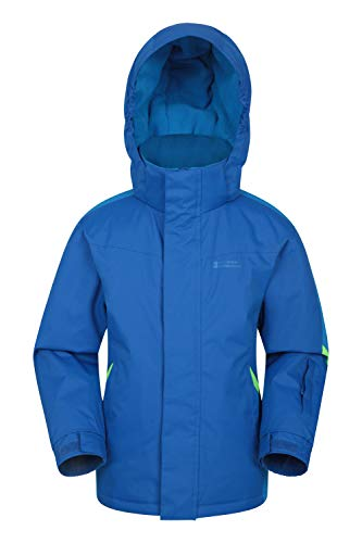 Mountain Warehouse Raptor Kids Snow Jacket - Winter Ski Coat for Boys & Girls Two Tone Blue 7-8 Years