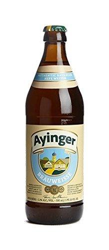 20 Flaschen Ayinger Bräuweisse a 500ml hefetrübes helles Weizenbier 5,1% Vol. inc. 1.60€ MEHRWEG Pfand