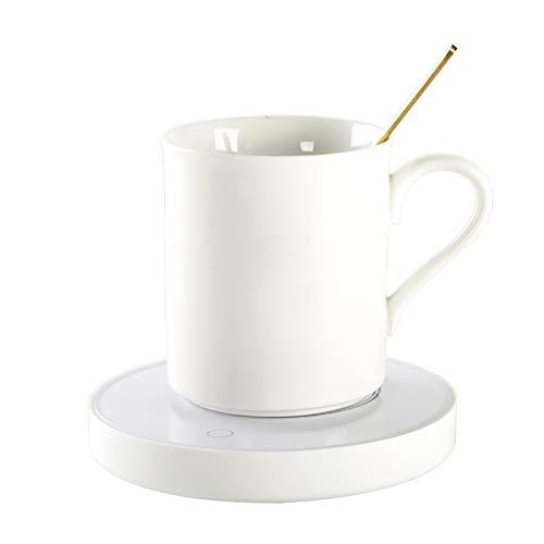 signmeili Calentadores de Bebidas USB, Calentador de Taza portátil Almohadilla calefactora de Taza Smart Touch (para la Sopa de Agua y Leche de té de Cacao) para la Oficina o el hogar