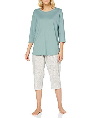 CALIDA Damen Late Summer Dreams Pyjamaset, Eucalyptus, M