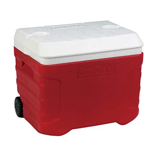 Boîte Refroidisseur à Roues JCOCO Performance | 40L Nourriture Boisson Pique-Nique Plage Camping isolé Glace Pack glacière-extérieure bière boîte de Transport de Transport, BBQ, Tailgating