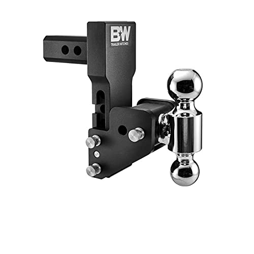 B&W Trailer Hitches MultiPro Tow & Stow - Fits 2  Receiver, Dual Ball (2  x 2-5 16 ), 4.5  Drop, 10,000 GTW -TS10065BMP