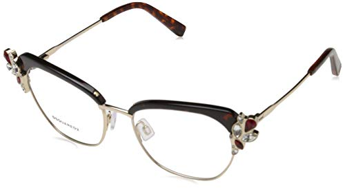 Dsquared DQ5162 53056 Dsquared2 Brille DQ5162 056 53 Schmetterling Brillengestelle 53, Gold