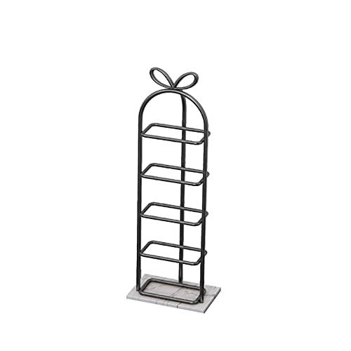 LYLY Zapatero de hierro creativo nórdico, estante de zapatos multicapa para zapatos, base de mármol, para dormitorio, armario, entrada, dormitorio, zapatero (color: negro, tamaño: 5 niveles)