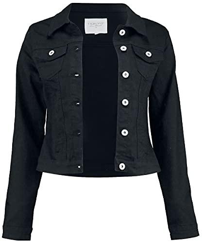 Hailys Enny Frauen Jeansjacke schwarz L 98% Baumwolle, 2% Elasthan Basics, Streetwear