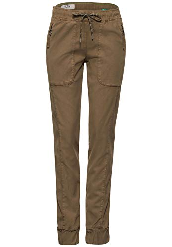 Cecil Damen 373535 Style Gesa Casual Fit Slim Legs Hose, Misty Mocca Brown, W30/L30