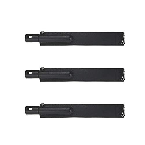 BBQSTAR 3-Pack BBQ Gas Grill Burners 15-13/16 Inches Cast Iron Pipe Burner Replacements for Jennair 720-0061, 720-0062, 720-0063, Nexgrill 720-0671, 720-0165, Charbroil Gas Grill Models