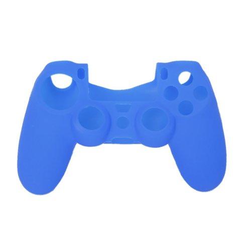 Dcolor Funda Silicona Protectora para Mando Consola de PS4 Color Azul