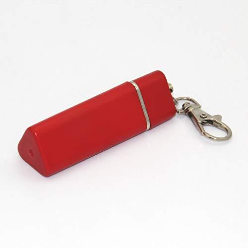 携帯灰皿 アッシュトレイ アウトドア 防臭 におわない 密閉 トラベル 携帯用灰皿 ポータブル キーホルダー (赤)