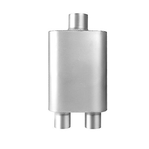 3 Inch Inlet Single Chamber Exhaust Muffler, AUTOSAVER88 Universal Stainless Steel Welded Muffler For Diesel Trucks Cars