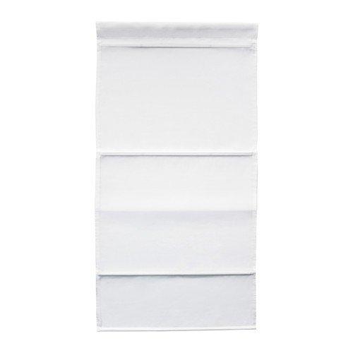 IKEA RINGBLOMMA Faltrollo in weiß; (60x160cm)